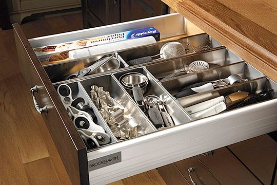 Can never have too many drawers in a kitchen.  They need to be somewhat deep for all the odd-shaped devices we use.