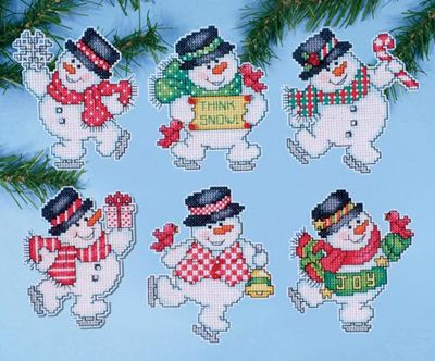 Think Snow Christmas Cross Stitch Kit by Design Works