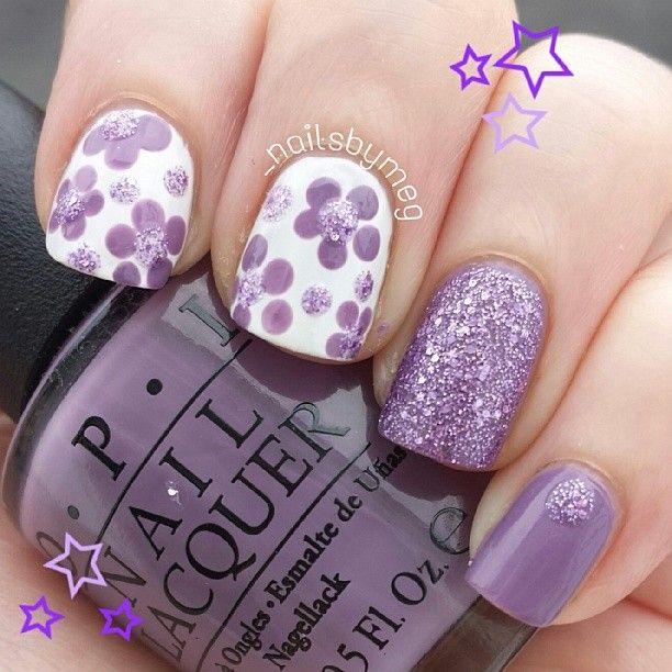 Gorgeous Purple Nail Art