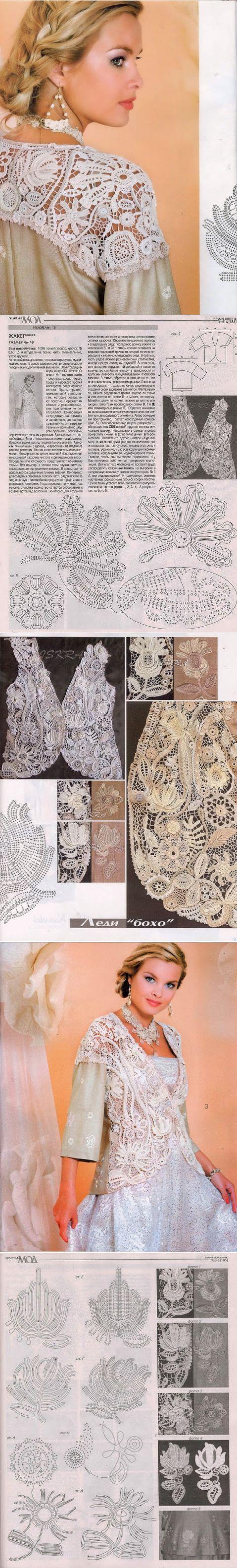 "Irish crochet &: Jacket ""Lady BOHO"""
