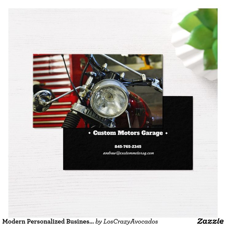 Modern Personalized Business Card Yamaha Motorbike