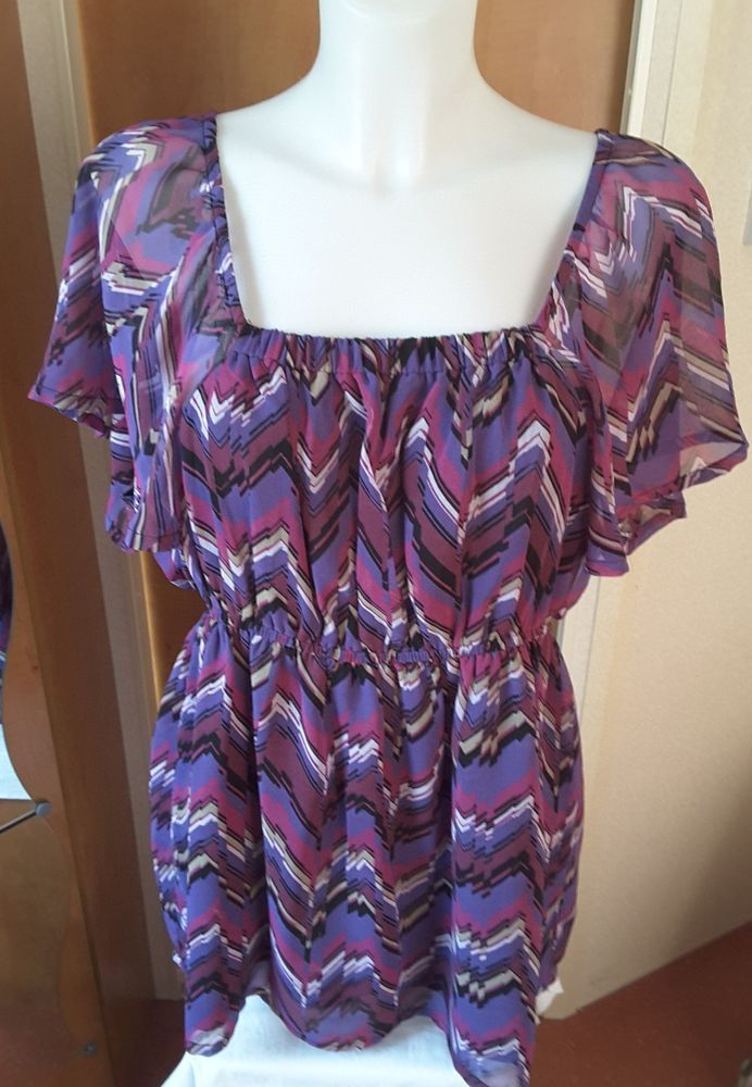 e6a1cc36816 Ladies Lovely Purple Tunic Top by Elegance Size 16 Holiday Occasion Party  #Elegance #Tunic #Casual