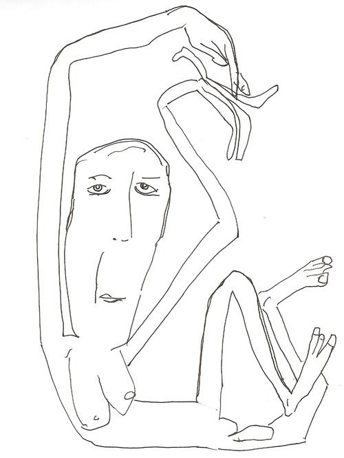 Ego. Lineal illustrations by pato blanche, via Behance