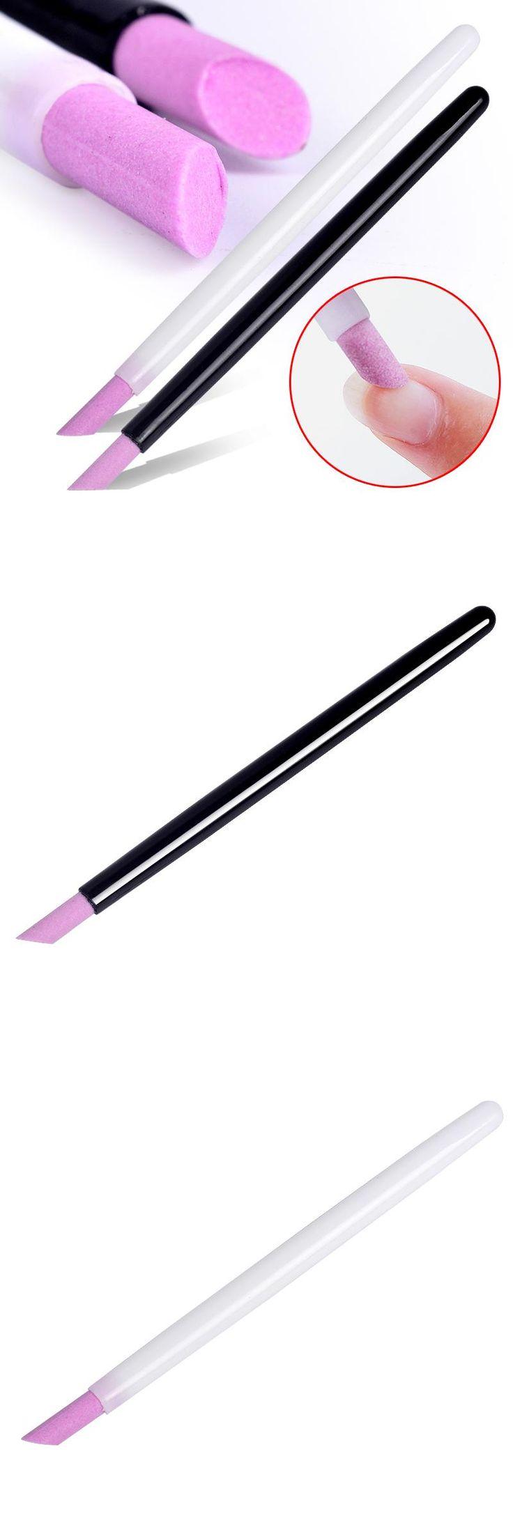 [Visit to Buy] 2017 New Style hot selling  black & white Scrub pen Quartz Manicure Pen Nail Art Carving Pen Brushes Acrylic Handle Salon Tool   #Advertisement