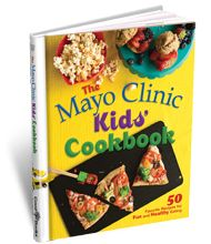 """The Mayo Clinic Kids' Cookbook offers 50 tasty recipes that are fun to make and fun to eat. The days of turning their noses up at foods that are """"good for you"""" are over! To help them get started right away, the book includes healthy versions of foods that are already hits with kids everywhere: pizza, chili mac, French toast, quesadillas, sloppy Joes, chicken fingers, chocolate pudding and more."""