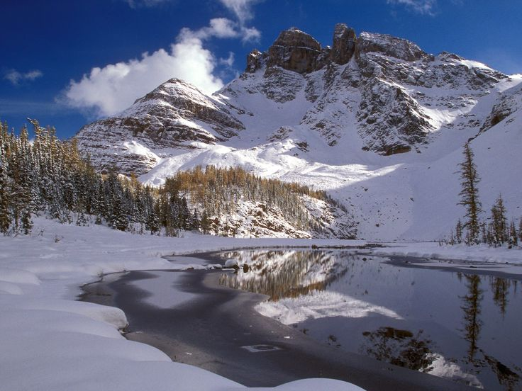 nice winter snow lake