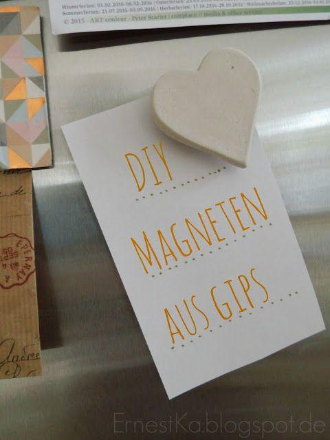 Was vom Valentinstag übrig blieb- DIY Magneten aus Gips- DIY Plaster Magnets http://ernestka.blogspot.de/2016/02/was-vom-valentinstag-ubrig-blieb-diy.html