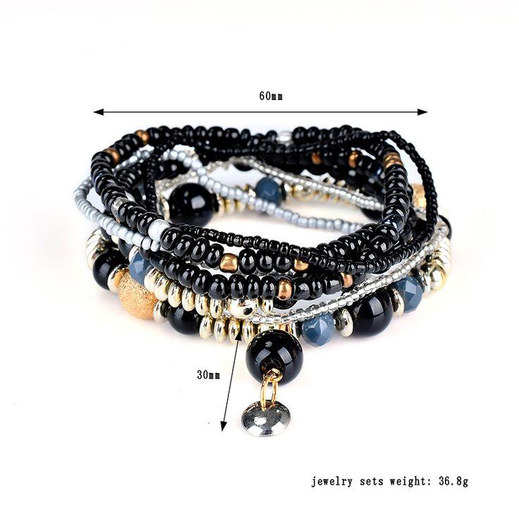 Bohemian Bracelet Beads Multilayer Retro Bracelet For Women