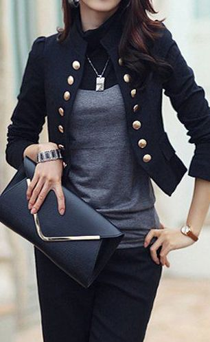 I absolutely LOVE band/military style jackets!