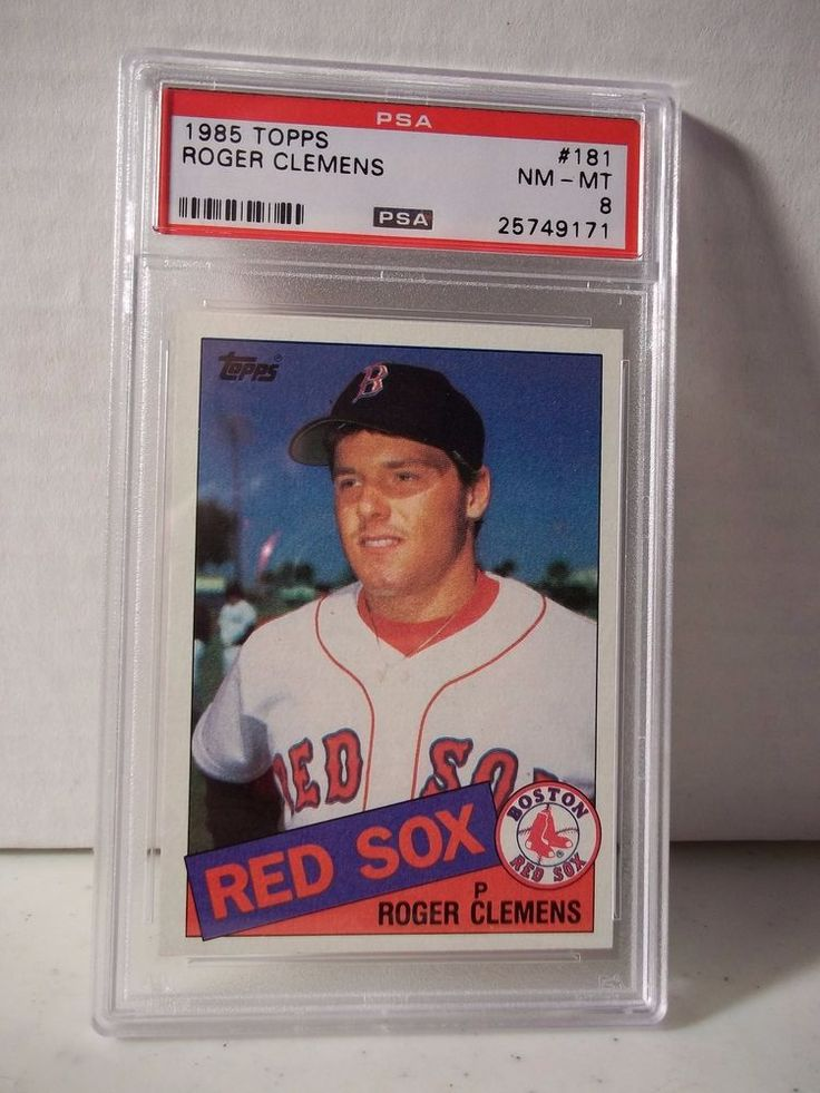 1985 Topps Roger Clemens RC PSA NM-MT 8 Baseball Card #181 MLB Collectible #BostonRedSox