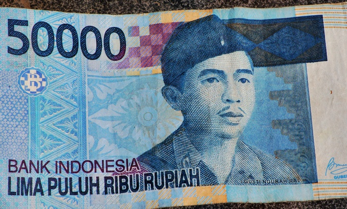 Invaluable hero: The face of Ngurah Rai as portrayed on the Rp 50,000 banknote. (Photo by Raditya Margi).