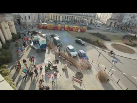 Flash mob Danone'a w Warszawie.