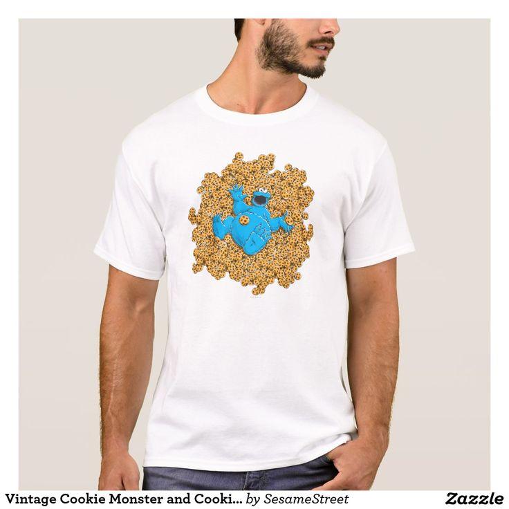 Vintage Cookie Monster and Cookies. Regalos, Gifts. #camiseta #tshirt