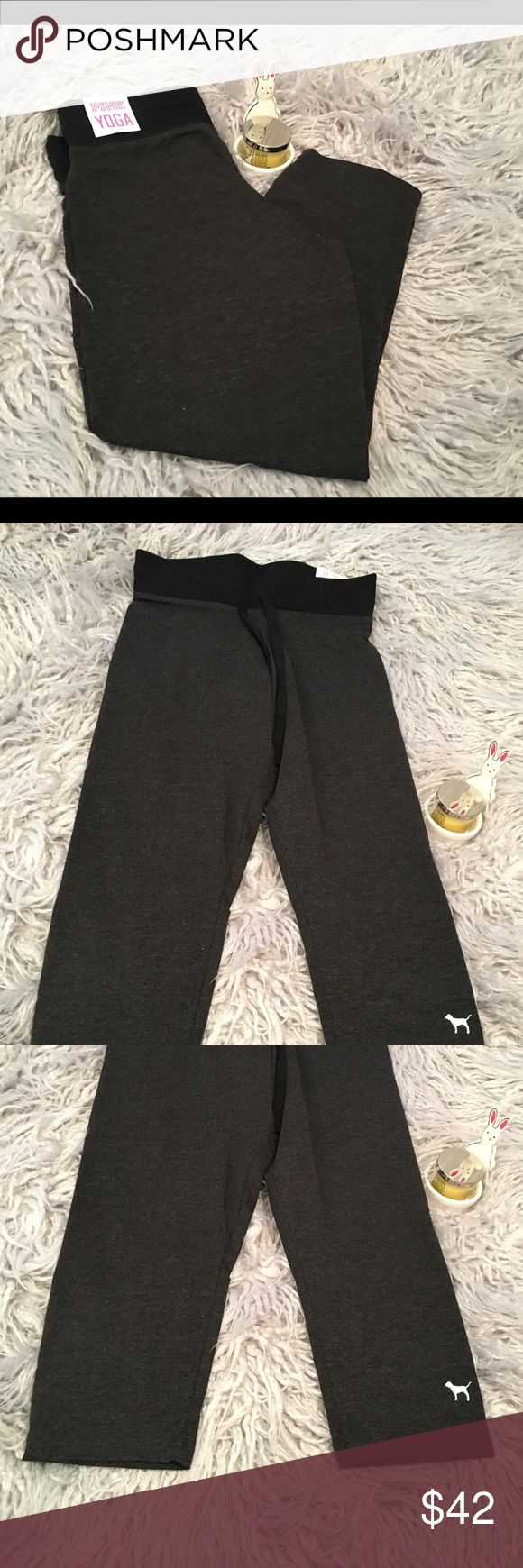 VS Pink Yoga Campus Crop Legging 💕 Brand new with tags, background/props not for sale PINK Victoria's Secret Pants Ankle & Cropped