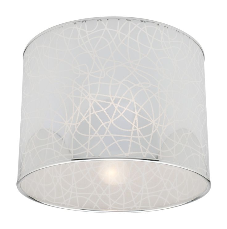 If curves are your thing, then you've already spotted this silver Fabian fitting with crystalline patterns on the shade!