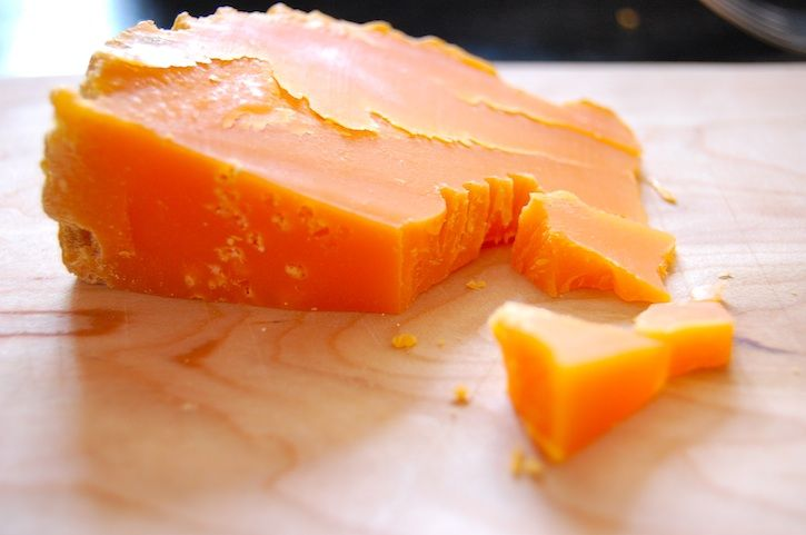 Mimolette, Cow's Milk, Nord-Pas-de-Calais This cheese is made in the north of France, near the Belgian border. Bright orange in color and somewhere between a Gouda and a cheddar in taste, this cheese was a great addition to the cheese plate.