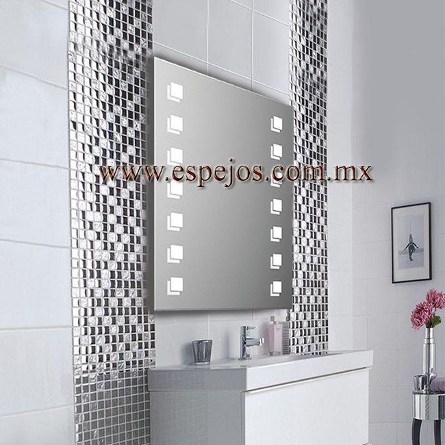 espejo con luz domino