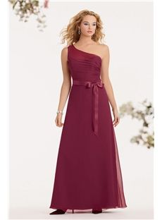 Unique Fashion Formal Fuchsia One Shoulder Long Bridesmaid Dresses backless Bow for Ladies Australia Summer