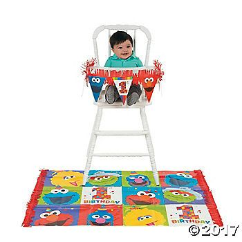 Put your little one in the middle of the Sesame Street gang with this Sesame Street® Elmo Turns One High Chair Kit! Elmo, Big Bird, the Cookie Monster, ...