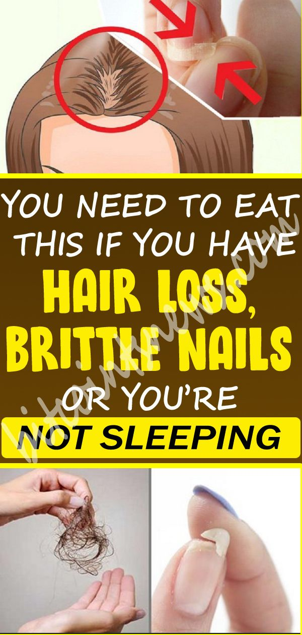 YOU NEED TO EAT THIS IF YOU HAVE HAIR LOSS, BRITTLE NAILS OR YOU'RE NOT SLEEPI…