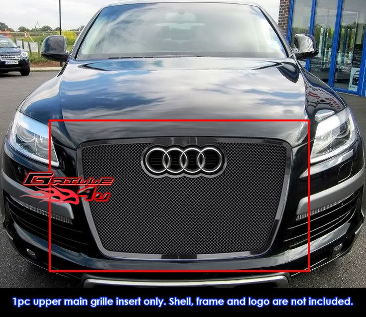 cool Great Fits 2007-2009 Audi Q7 Stainless Steel Black Mesh Grille Grill Insert 2017/2018 Check more at http://24carshop.com/product/great-fits-2007-2009-audi-q7-stainless-steel-black-mesh-grille-grill-insert-20172018/
