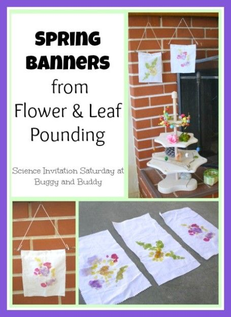 Turn a fun science experiment into spring banners! Leaf and Flower Pounding -- for Juniors earning their Gardener badge.
