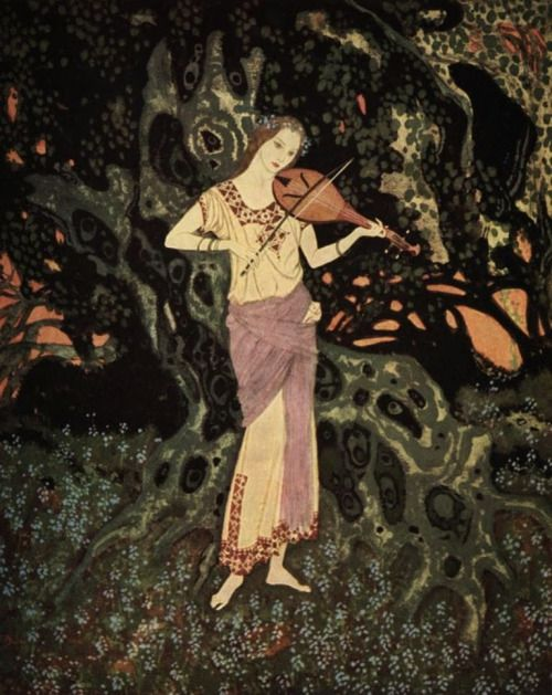 Chez l'arbre vert mousse - Edmond Dulac