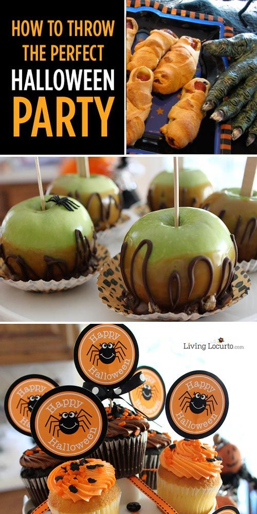 How to Throw the Perfect Halloween Party! Great tips and ideas for festive food and spooky fun.