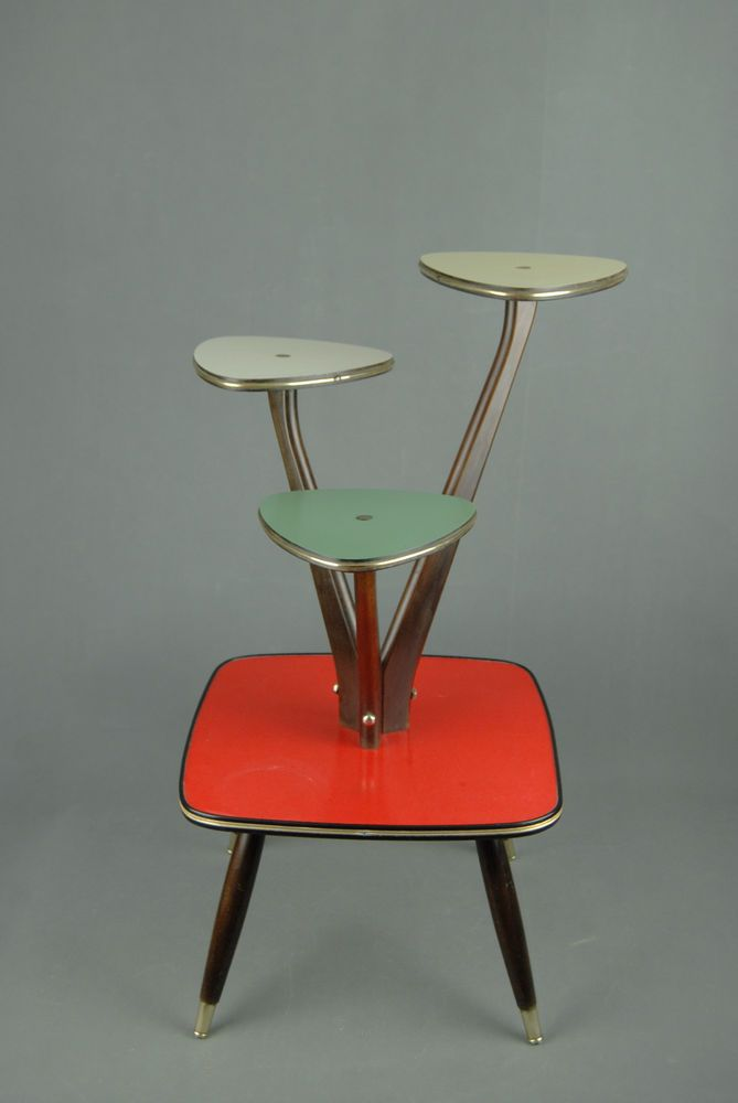 1950s PLANTSTAND Mid Century Danish Modern Plant Stand Vintage Eames 60s 70s in Antiques, Periods/Styles, Modernist | eBay!