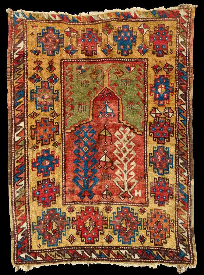 Obruk Near Bor In The Niğde Province Village Prayer Rug 2nd Half Turkish Carpetsmagic Carpethandmade