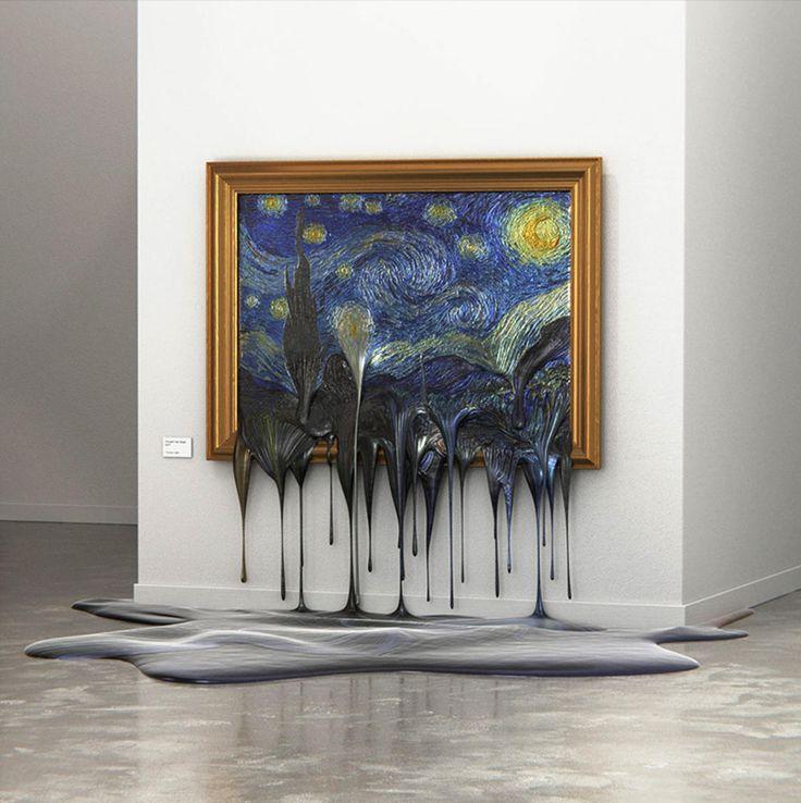 Quand les peintures célèbres subissent la canicule | Art célèbre, Tableau et Comment peindre
