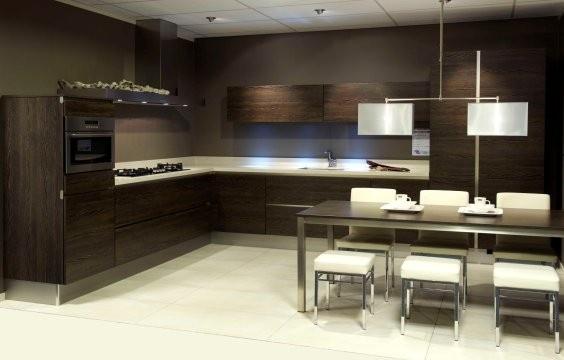 Donkere Keuken Vloer : Donkere keuken, wit blad en lichte vloer Keuken Pinterest