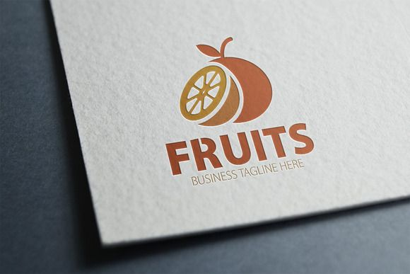 Fruits Logo by eSSeGraphic on Creative Market