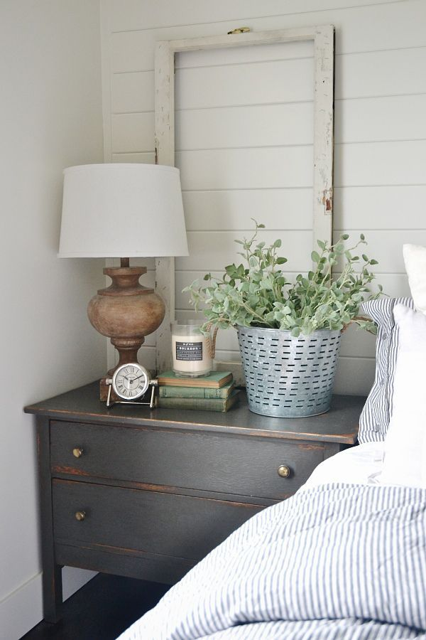 1000 ideas about farmhouse bedroom decor on pinterest Night table ideas