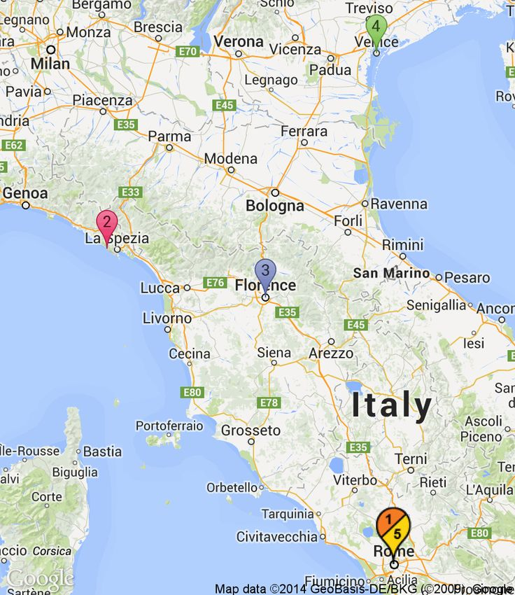 Italy friends trip itinerary: 1. Rome (3 nights), 2. Cinque Terre ...