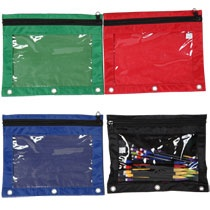 I found these zippered pouches at Dollar Tree today ($1)!!! PERFECT for discovery bags. Forget the DIY sewing. Just have to figure out how to keep the kiddo from opening the zipper. These you could redo over and over again.: Dollartree Com, Dollar Tree, Pencil Pouches, Tree Today