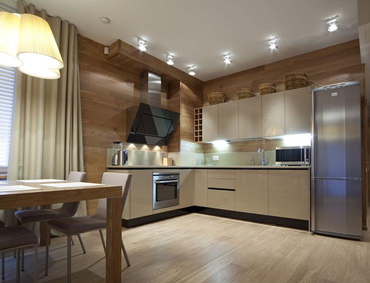 Modern apartment l shaped kitchen