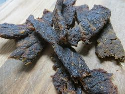 This new mesquite beef jerky recipe is is bold, smokey, and is really just packed full of flavor!   It's made with just the right amount of worchestershire, soy, mesquite seasoning, liquid smoke, and brown sugar. - See more at: http://www.makethatjerky.com/mesquite-beef-jerky-recipe.html#sthash.ThFUS3PP.dpuf