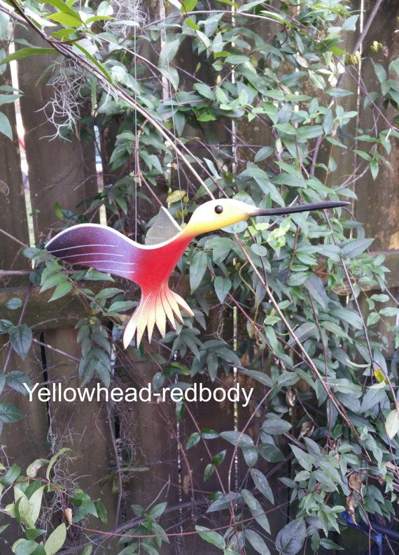 Flying PVC Hummingbird Bird by dadelight on Etsy