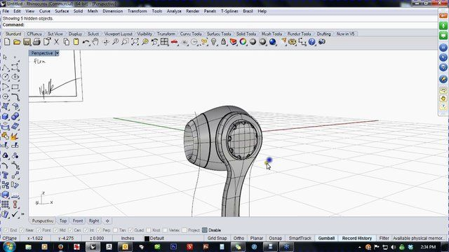 """In this video, Kyle Houchens shows you how to model ear buds working from a hand-sketched design brief.   Kyle keeps it lively and entertaining as he models """"free style"""" in Rhino in the video classroom.   Kyle Houchens is owner of The Outside, a digital design consultancy specializing in 3D modeling, photo realistic rendering, and cutting edge solutions to any design problem.   Kyle Houchens The Outside Digital Art and Design LLC www.theoutside.biz kyle@gototheoutside.com  …"""