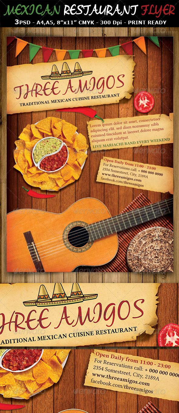 Mexican Restaurant Ad Flyer Template Flyer Template