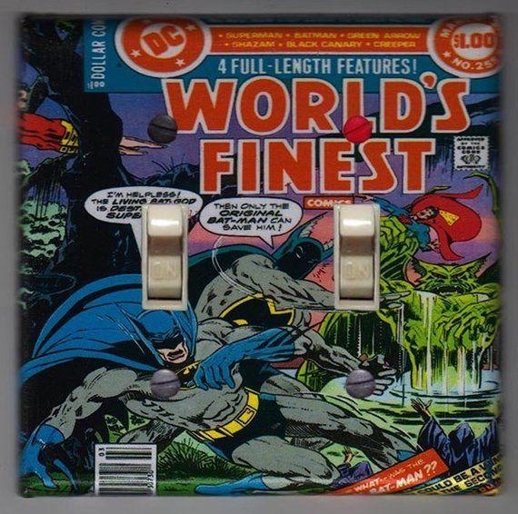 DOUBLE Light Switch Plate BATMAN DC COMICS Cover