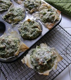 When Adobo Met Feijoada: Spinach Feta Muffins for Muffin Monday