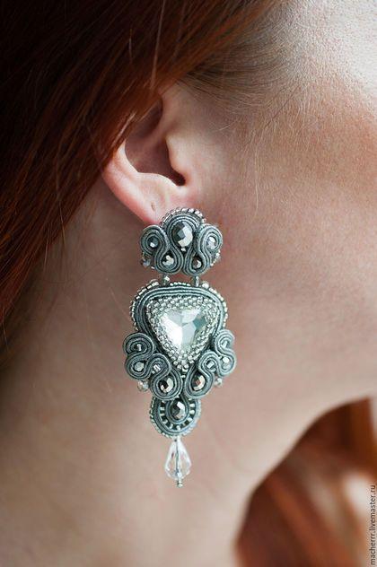 Soutache earrings / Люстры `Снежная королева` MaCherrr