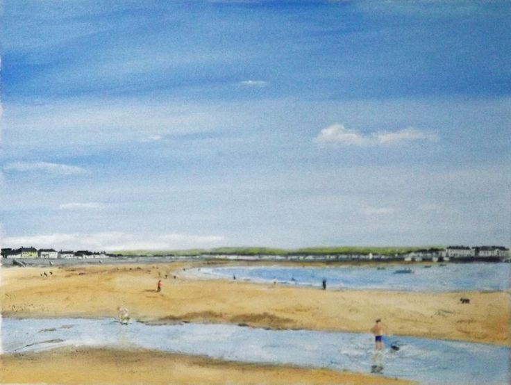 "Kilkee  Oil on Canvas  12 X 16  Kilkee (Irish: Cill Chaoi, meaning ""Church of Chaoineadh Ita - lamentation for Ita"") is a small coastal town in County Clare, Ireland."