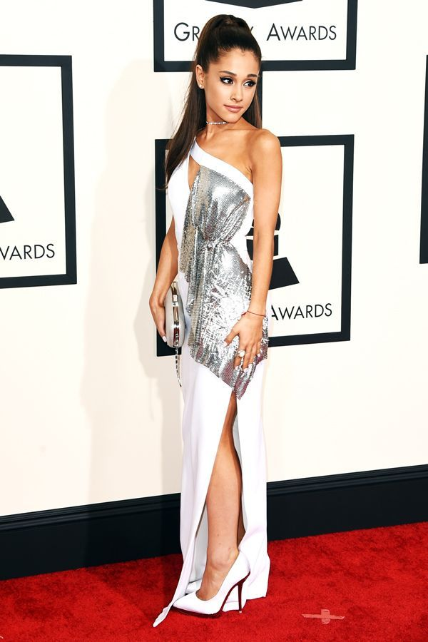 Ariana Grande and Versace are made for each other. This super-vampy white dress with a splash of silver is obviously sexy, but keeps it classy.  ...