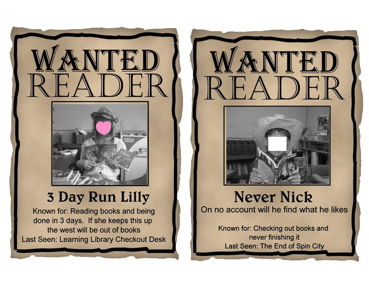 """Free Printables!   Editable Western """"WANTED"""" theme posters in powerpoint so you can upload your own students pictures and writings."""