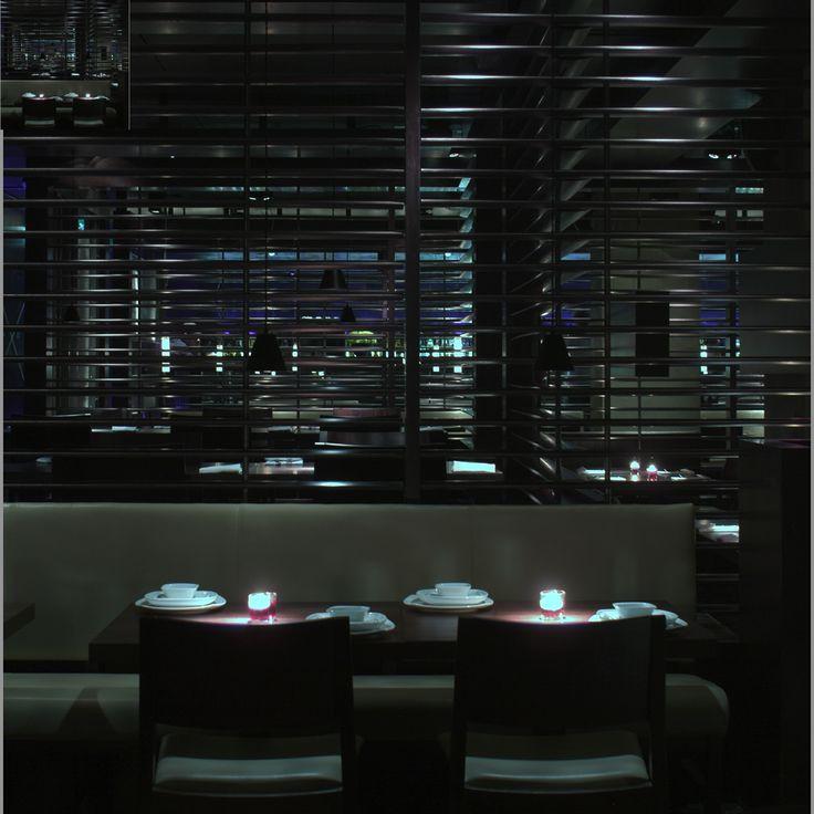 Mint Leaf Restaurant, nr Trafalgar Square, London. Designed by Julian Taylor Design Associates for Mint Leaf Restaurants.