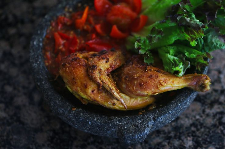 Ayam Penyét (Indonesian Oven Roasted Cornish Hens With Spicy Sambal)   ~Elra's Cooking~