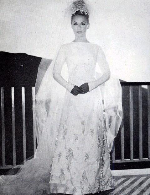 Aliki Vougiouklaki on her wedding day